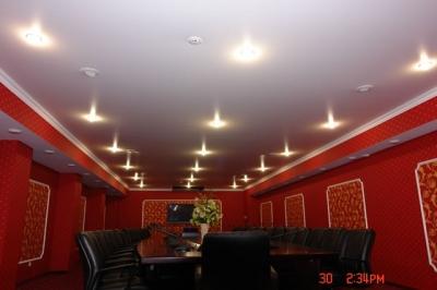 потолки натяжные матовые фото для зала